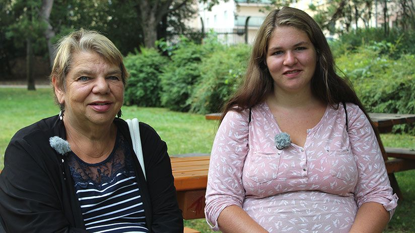 Besprechung mit Oma