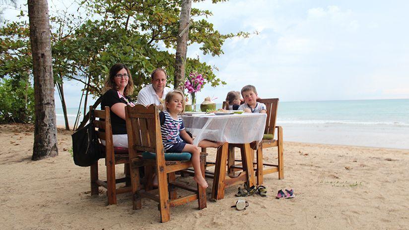 Essen am Strand!