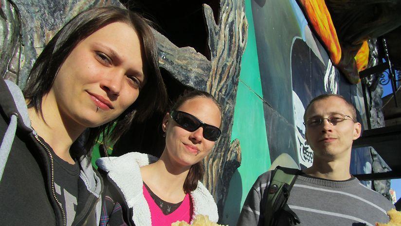 Daniela, Ines und Helmut